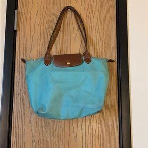 Longchamp Turquoise L tote